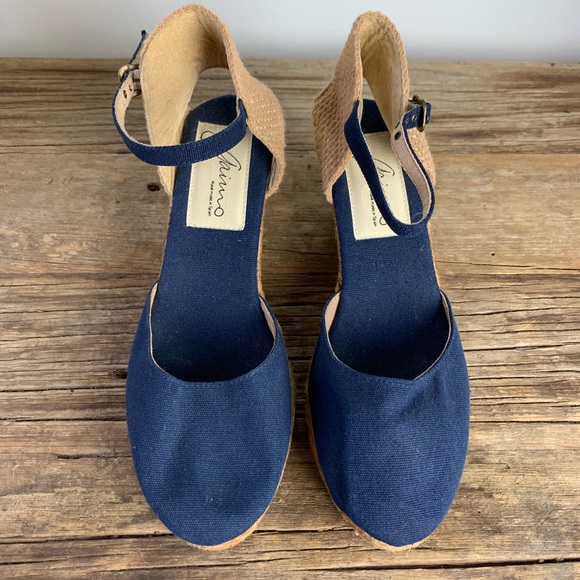 89a83506365e7 Anthropologie Shoes | Gaimo Obi Anthro Navy Espadrille Wedges | Poshmark